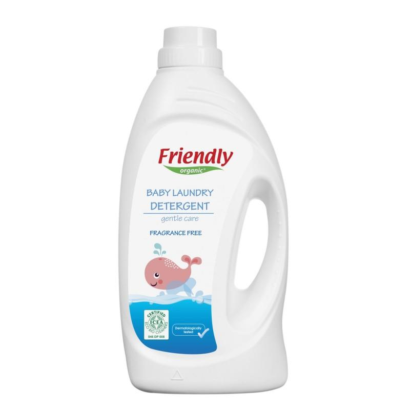 Friendly Organic, Płyn do prania ubranek dziecięcych, bezzapachowy