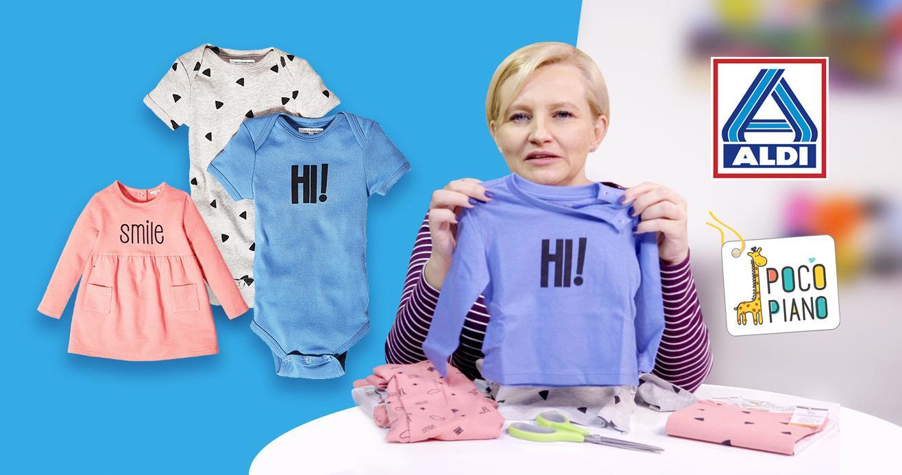 Ubranka Pocopiano dla dzieci z bawełny ekologicznej w ofercie ALDI